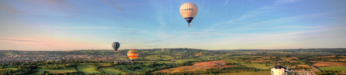A shot of Balloons in Bristol