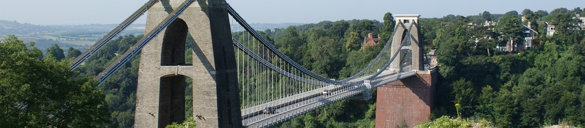 A shot of Clifton Suspension Bridge