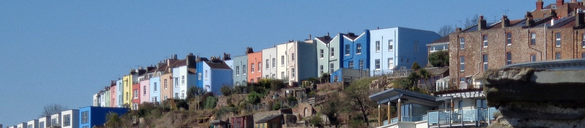 A shot of houses in Bristol