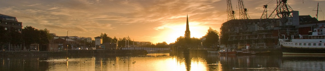 A shot of Bristol Harbour - sunset